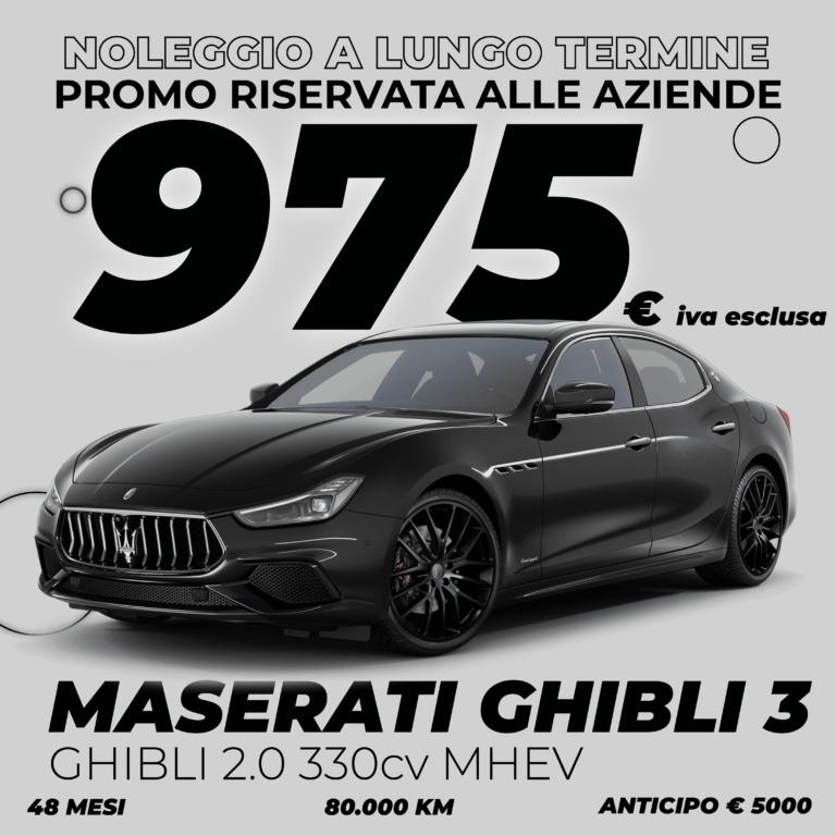 noleggio a lungo termine Maserati